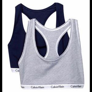 NWT Calvin Klein carousel bralette 2 pack
